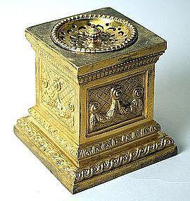 Fine Antique French Pedestal Form Ormolu Ink Sander, 19th C.