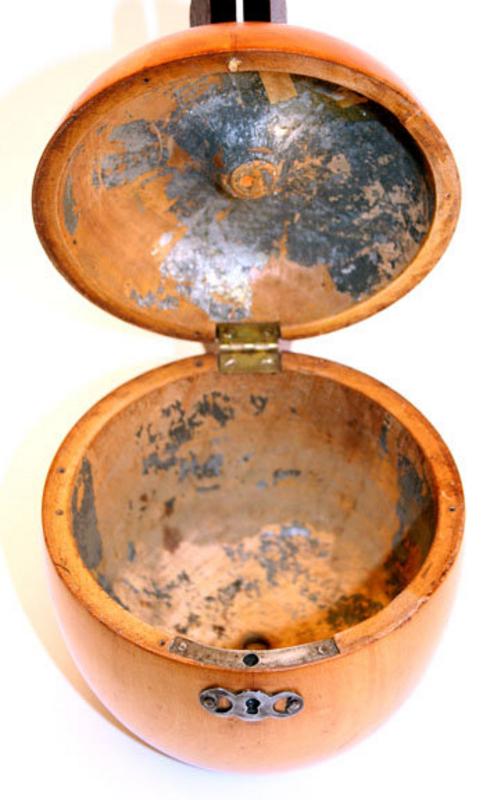 Rare 18th century Apple-form Tea Caddy