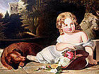 Child Resting with Dog  (c. 1830-40), Oil on canvas, after Sully