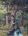 Forest Landscape by Joseph Pickering (Eng. b.1845)
