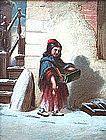 Girl Selling Chestnuts, American, circa 1860