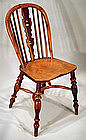 Fine Antique English Windsor Side Chair in Yew
