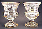 Fine Pair of Antique Cut Crystal Urns