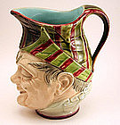 Majolica Ceramic Face Jug