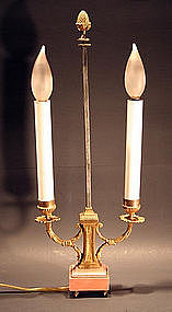 Pair of Small Antique Bouillotte Lamps