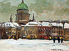 Potsdam in the Snow by  Carl Kayser-Eichberg