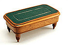 Stamp Box in the form of a Miniature Billiards Table