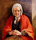 Woman at Prayer by Thomas Webster (Br. b.1800)