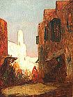 Street in Cairo by Henri Gaston Dagnac-Riviere