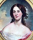 Portrait by Manuel Joachim de Franca (Am., 1808-1865)