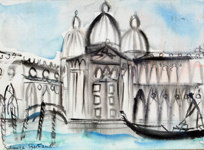 Venice by Solange Bertrand (French, 1913-)