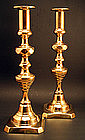 Large Pair of Antique English Candlesticks