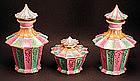 Antique French Porcelain Tea Caddies