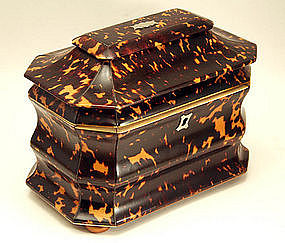 English Tortoiseshell Tea Caddy