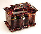 Fine Regency Tortoiseshell Tea Caddy