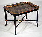 Small English Regency Tray on Stand