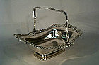 Antique English Sheffield Plate Cake Basket