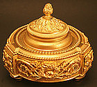 Antique French Ormolu Inkwell