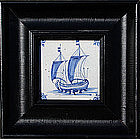 17th Century Dutch/Delft Tile