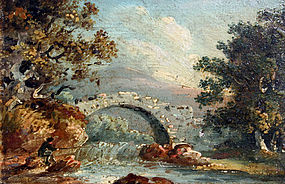 Three Small 18th C. English Landscapes