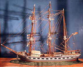 Antique Handmade American Ship Model