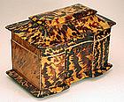 Regency Tea Caddy in �Tiger� Tortoiseshell