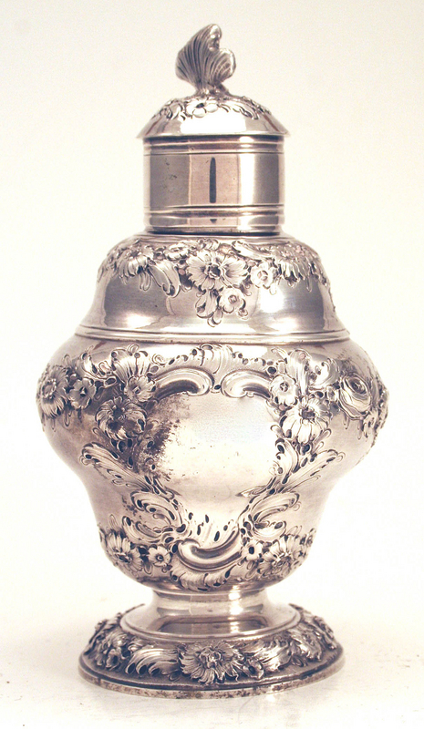 Fine George II Silver Tea Caddy by Samuel Taylor