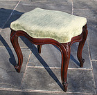 Antique Mahogany Queen Anne Style Stool