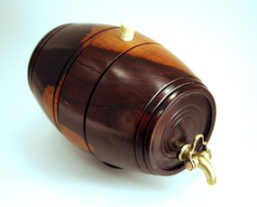 Small Antique English Lignum Vitae Barrel