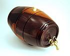 Small Antique English Lignum Vitae Barrel