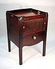 George III Mahogany Bedside Table