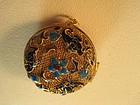 A Beautiful Chinese Vintage Enamel Silver Pendant