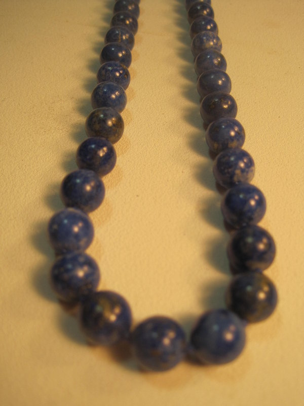 "A Beautiful Vintage Lapis Necklace 24"" Long"