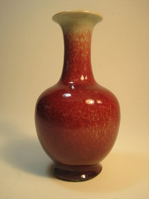 18th C. Chinese Red Glazed Ox Blood Small Vase