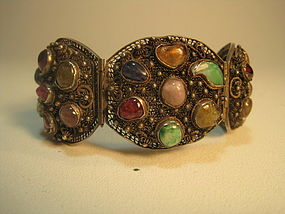 19th C/20th C. Chinese Filigree Silver Jewelry Bracelet