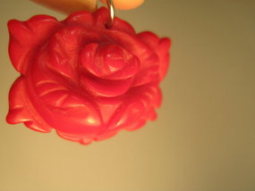 A Beautiful Vintage Red Coral Pendant