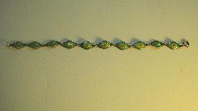 Vintage Chinese Enamel Silver Bracelet Marked