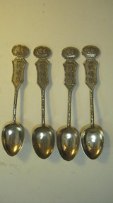 A Group of 4pcs of Chinese Export Silver Spoons Marked
