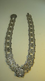 A Beautiful Early 20th C. Chinese Silver Belt Marked