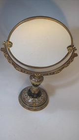 A Beautiful 20th C. Old Chinese Cloisonne Mirror