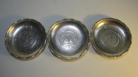 Early 20th C. Chinese Silver Dish With Silver Coin Sign