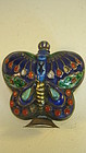 Early 20th C. Chinese Silver Enamel Snuff Bottle