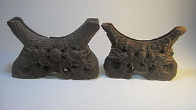 Two Beautiful Chinese Old Wooden Stand