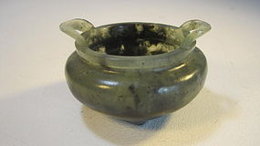 A Small Early 20th C. Chinese Jade Burner