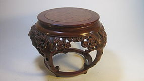 A Beautiful Old Chinese Burl Wood Stand