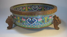 Late 19th/20th C. Chinese Cloisonne Basin