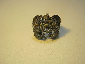 Late 19th/20th C. Chinese Silver Puzzle Ring