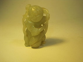 18th/19th C. Chinese Nephrite Jade Boy Figure