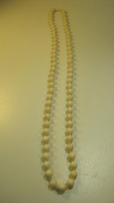 A Beautiful Old Chinese Ivory Beads Necklace