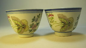 19th C. Chinese Famille Rose Porcelain Wine / Tea Cups